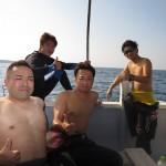 台風後の本部の海で男祭り!!  ダイブナッツブログ