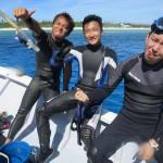 いつか辺戸リベンジ!と誓った今日の最高の透明度の水納島!  ダイブナッツブログ
