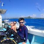 予報よりも良い海況で無事伊江島へ!  ダイブナッツブログ