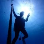 水納で記念ダイブ!そして記念旗のクオリティがヤバ谷園    ダイブナッツブログ